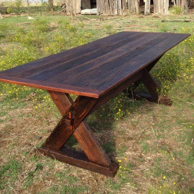 Barnwood Trestle Table