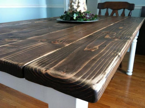 Jason & Jen Custom Farmhouse Table & 2 Rustic Benches
