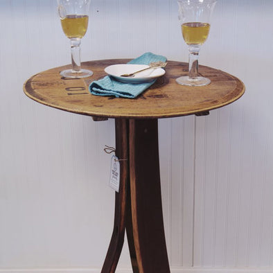 Wine Barrel Bistro Table - IN Store Purchase Only
