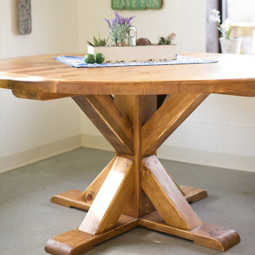 Country Pine Round Table