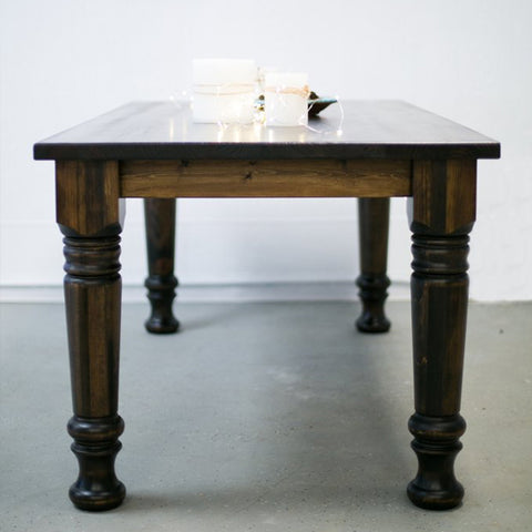 Distressed Pine Farmhouse Table