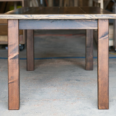 Farmhouse Plank Table with Bread Ends