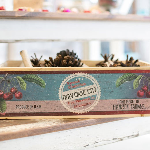 Vintage Fruit Crate w/ Local Graphics