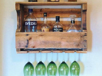 Harbor Cove Rustic Wine Rack Liquor Rack Extra Wide FREE SHIPPING