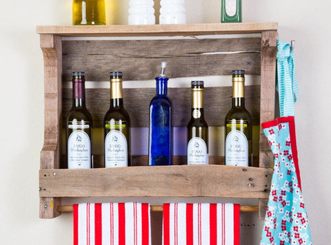 Rustic Olive Oil Storage Unit