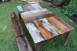 Handmade Reclaimed Wood Barn Wood Painted Tables