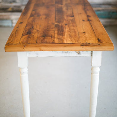 Reclaimed Wood Bread Ends Table
