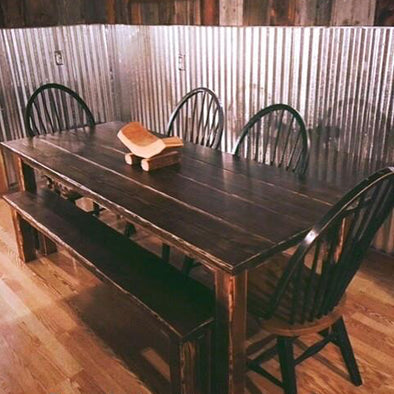 Rustic Table & Bench Set