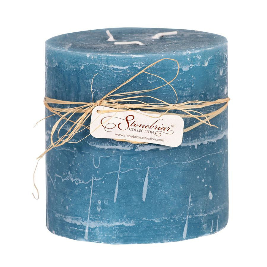 Stonebriar Textured Pillar Candle, 6 x 6