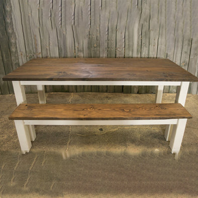 Rustic Table & Bench Dining Set