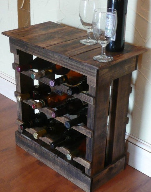 Reclaimed Wood Wine Storage Cabinet