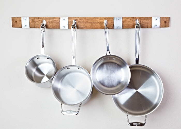 Wine Stave Pot Rack