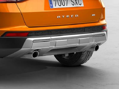 Rear bumper trim for dual exhausts