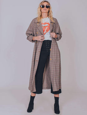 melody menswear trench