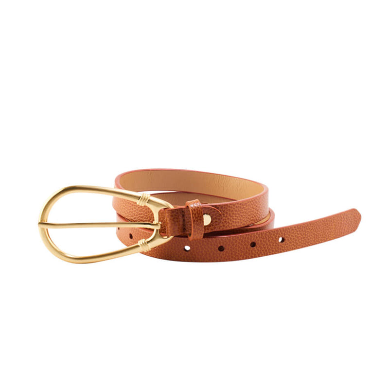 The Elysees Belt in Cognac Color