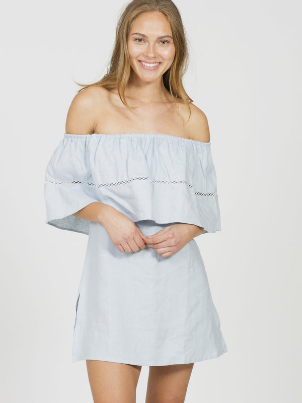 Riviera off shoulder dress