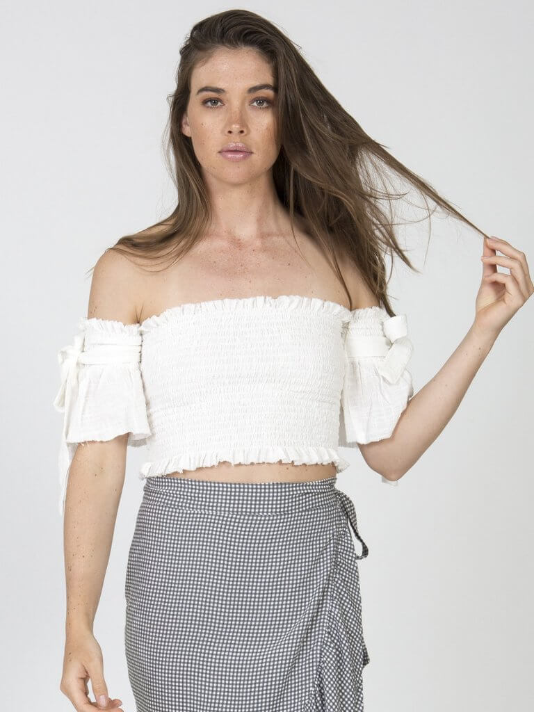 Port Crop Top in White Color