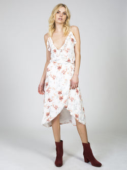Innocence Wrap Midi Dress by Somedays Lovin