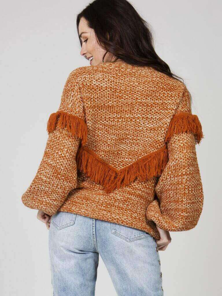 WELLA KNIT FRINGE SWEATER