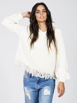 Josephine Fringed Knit by Rue Stiic