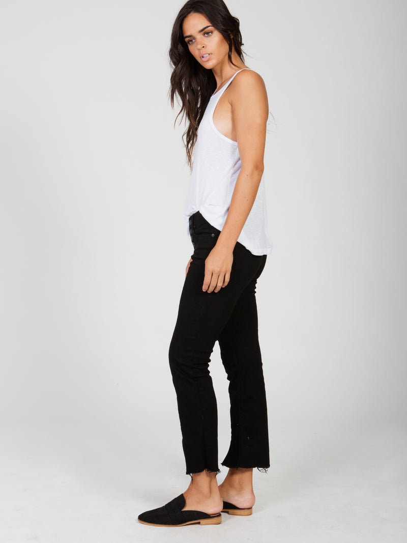 Cropped Button Front Jean Free People