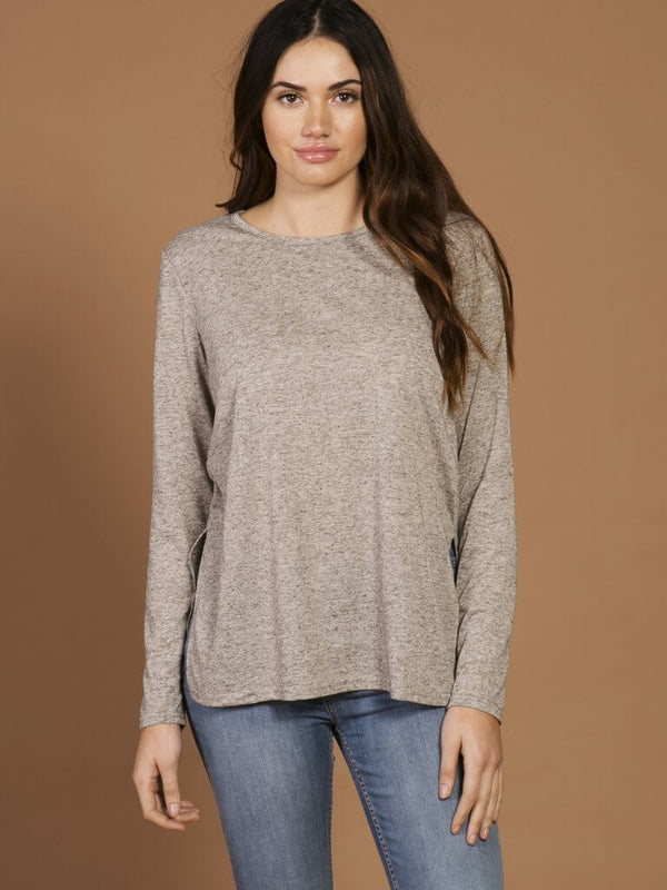 Side Split Long Sleeve Tee