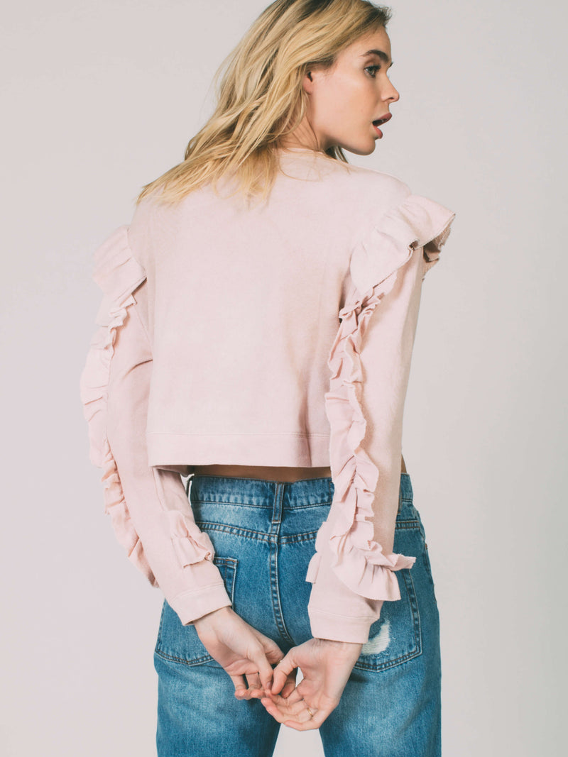 Ruffle Sweatshirt Loveshack Fancy