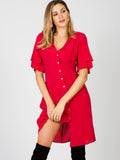Cherry Nights Midi Dress