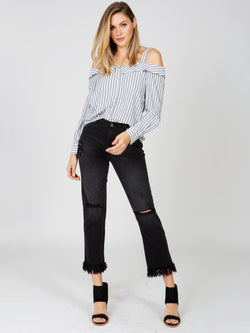 Rough Night Cut Off Jean MINKPINK