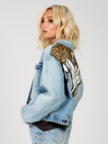 Glam Embellished Denim Jacket by Free People