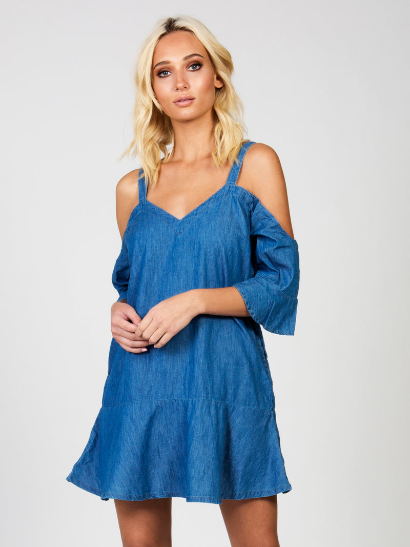 Fancy Cold Shoulder Dress by MINKPINK