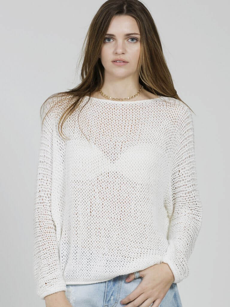 Slouch Spring Sweater White