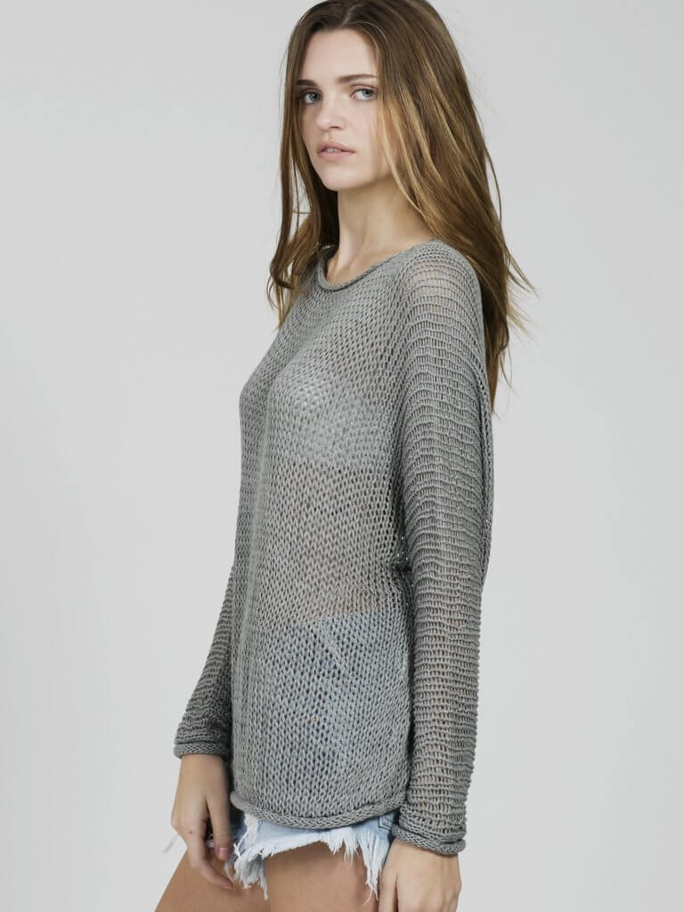 SLOUCH SPRING SWEATER GREY