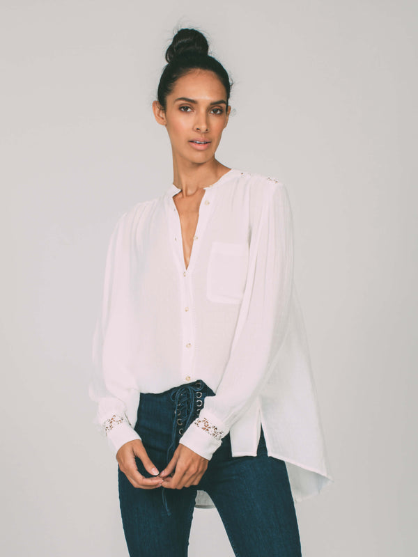 The Best Button Down Blouse