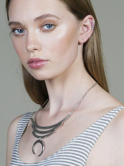 Silver Oracle Ear Cuff