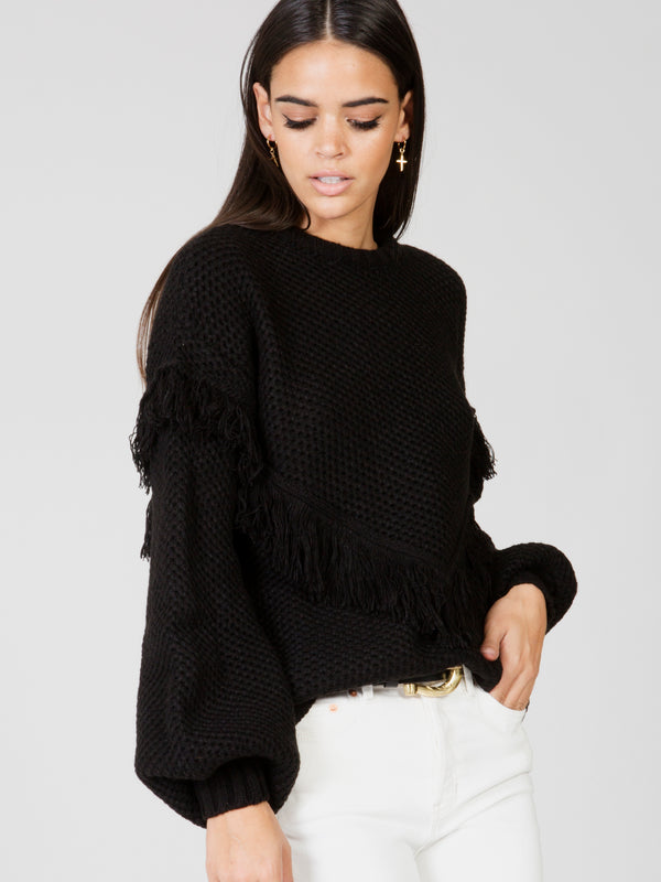 Wella Knit Fringe Black