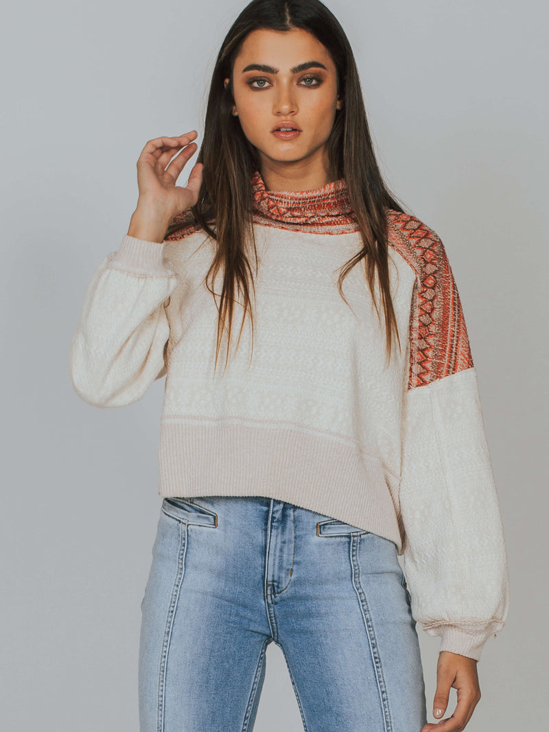 Meet Me At The Lodge Pullover Tee Free People