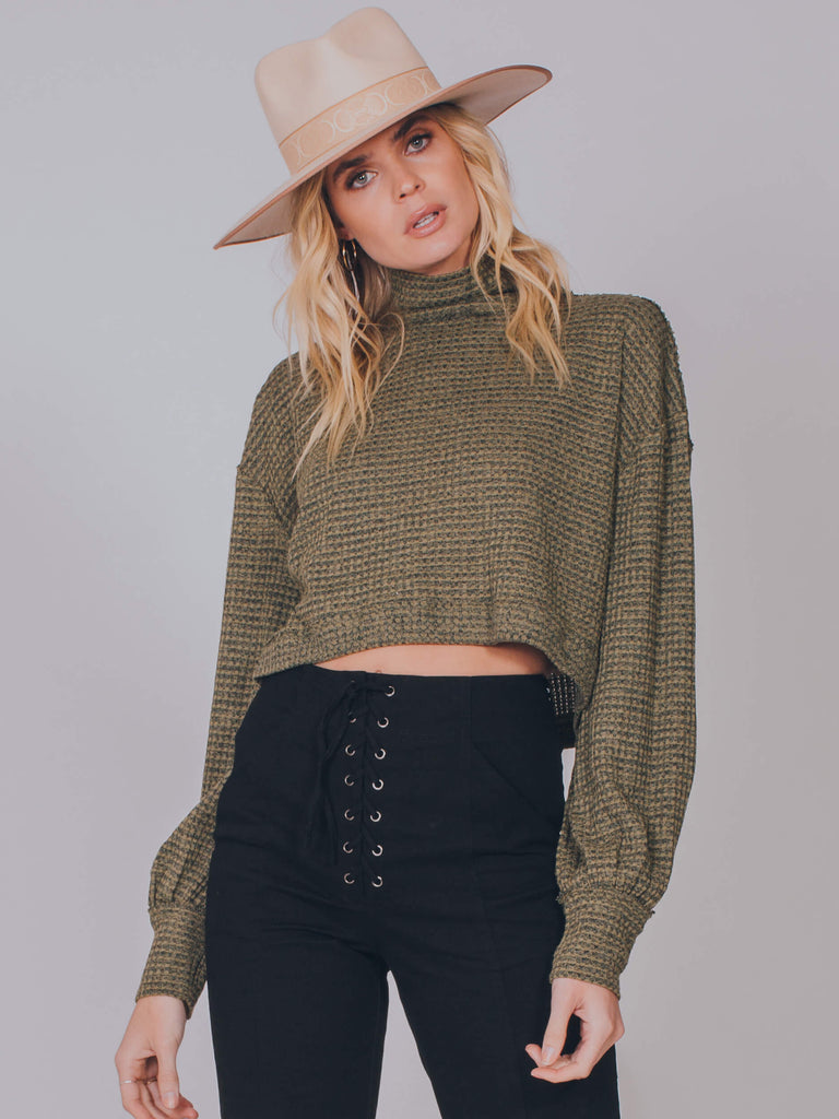 BK Tee Army Green Free People Top