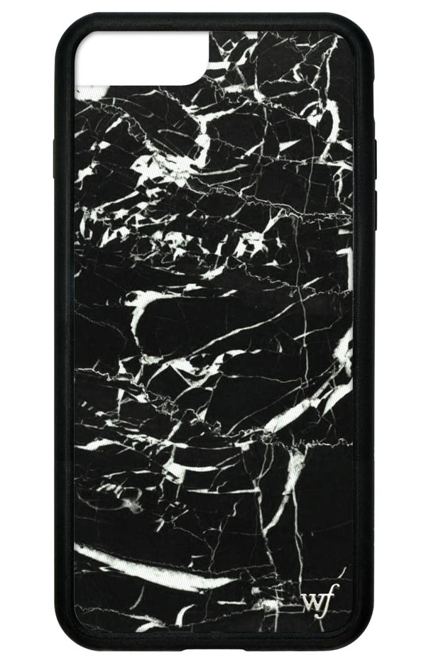 Black Marble Iphone Case Wildflower