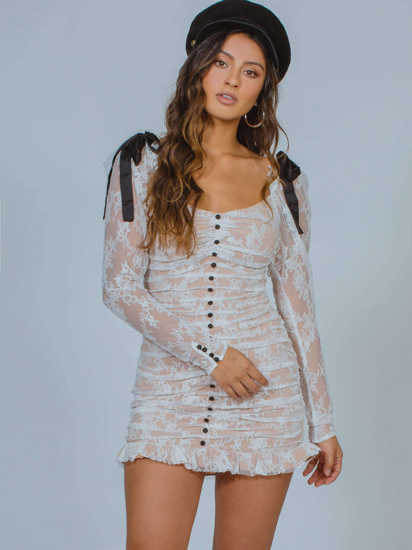 Beverly Pleated Mini Dress For Love & Lemons