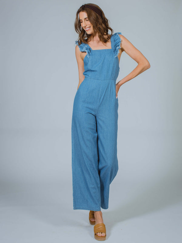 Blue Coast Jumpsuit Sage The Label