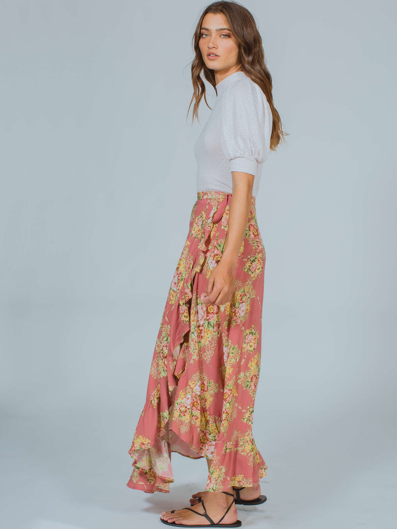Bonnie Cascade Wrap Skirt Auguste The Label