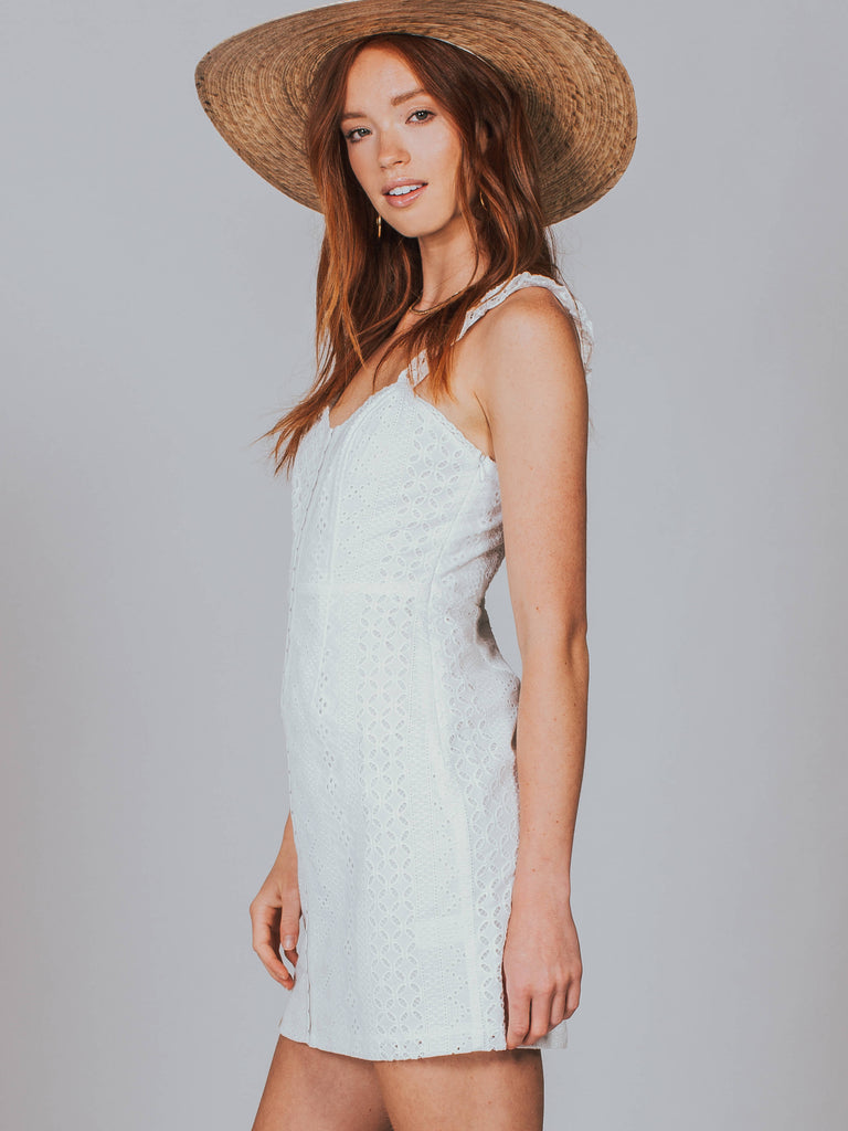 Astr The Label Brenna Dress White ACDR95189