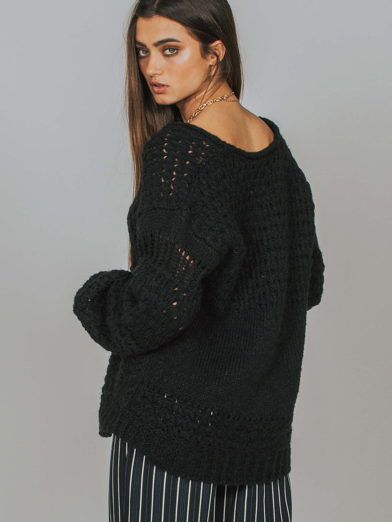 Crashing Waves Pullover Black Free People