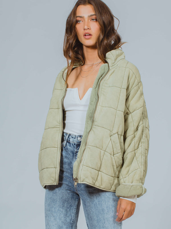 Dolman Quilted Knit Jacket Free People