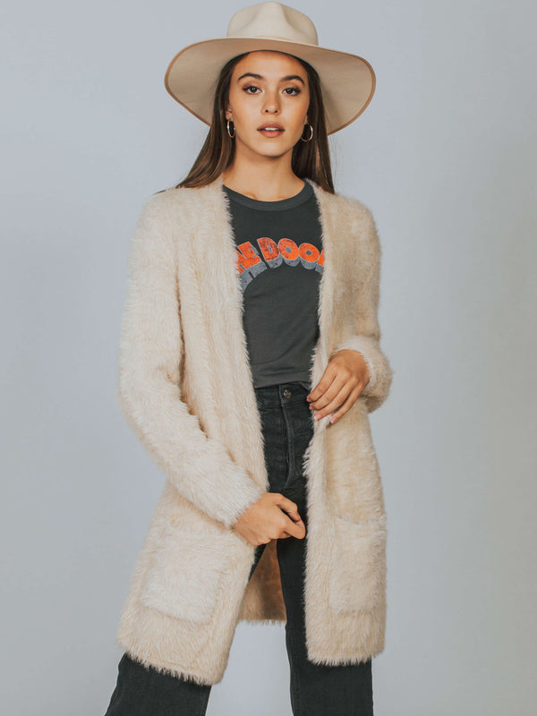 Faux Fur Cardi Free People
