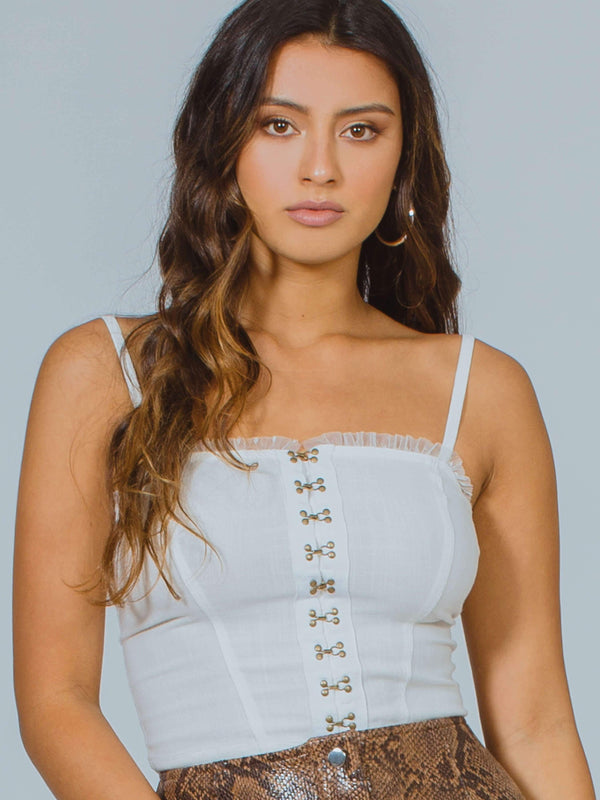 For The Boys Corset Cami Free People