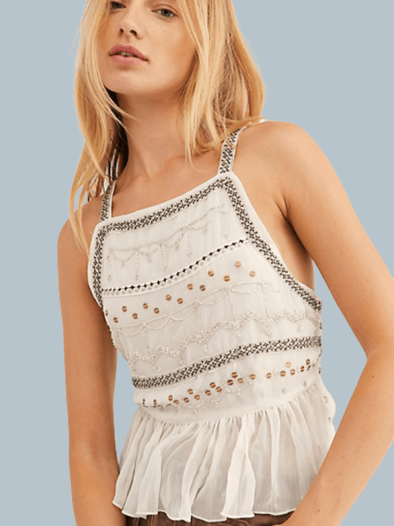 Camille Embroidered Cami Free People
