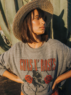 Guns N Roses Cherub Cropped Sweatshirt Daydreamer LA
