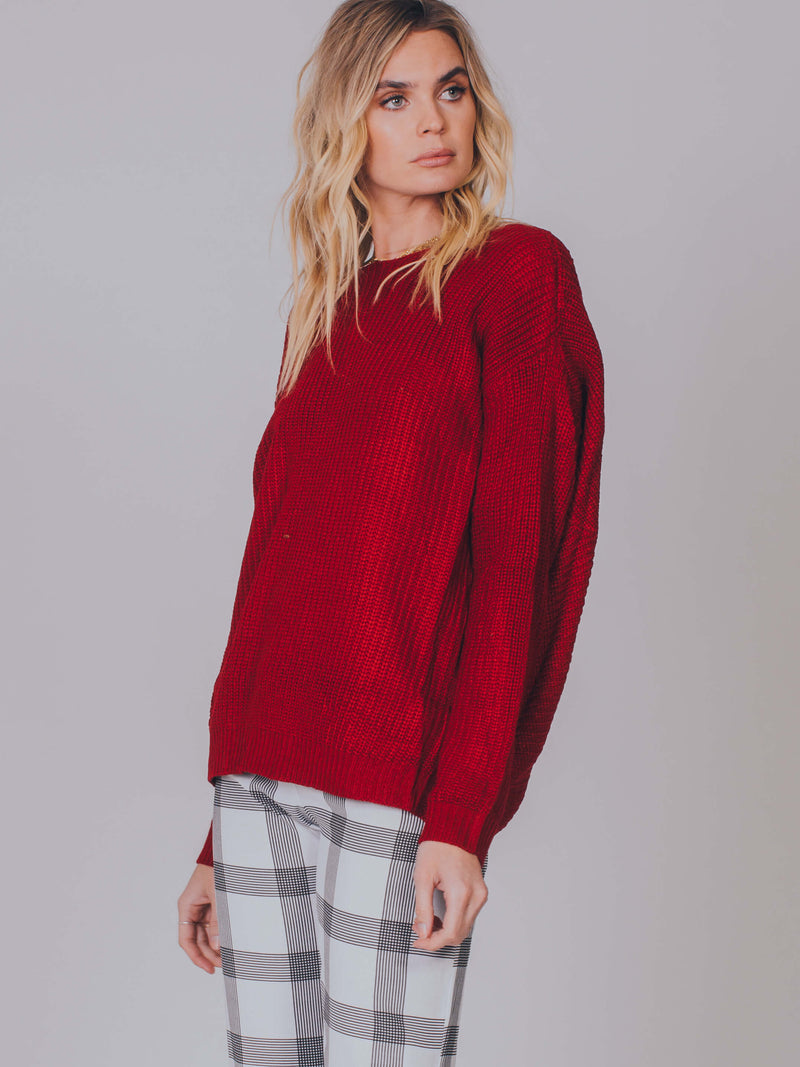 In Bloom Twist Back Jumper Somedays Lovin Wine